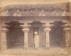 General view of the entrance to the Varaha Cave Temple, Mamallapuram 10032212